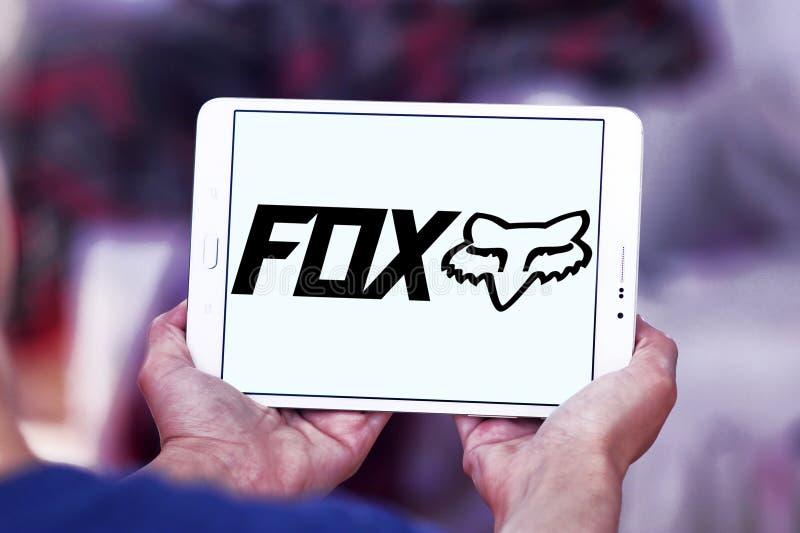 Laufendes Logo Fox Firmen stockfotografie