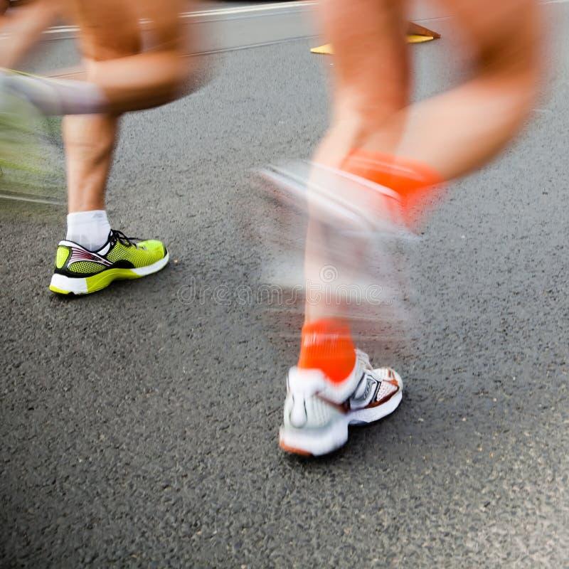 Laufendes Marathon stockfotos