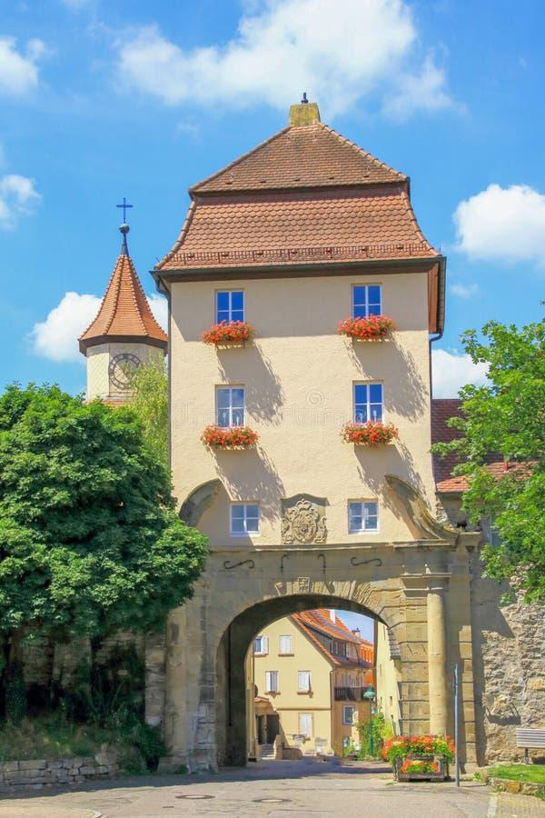 Lauffen Neckar - la nueva puerta de Heilbronn foto de archivo libre de regalías