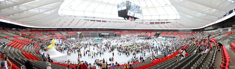 Lauffestlichkeits-Innere Vancouvers Sun BC Platz lizenzfreie stockfotos