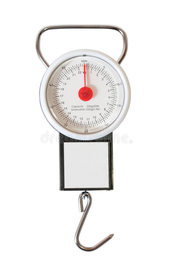 Laufgewichtswaage über Weiß lizenzfreie stockbilder