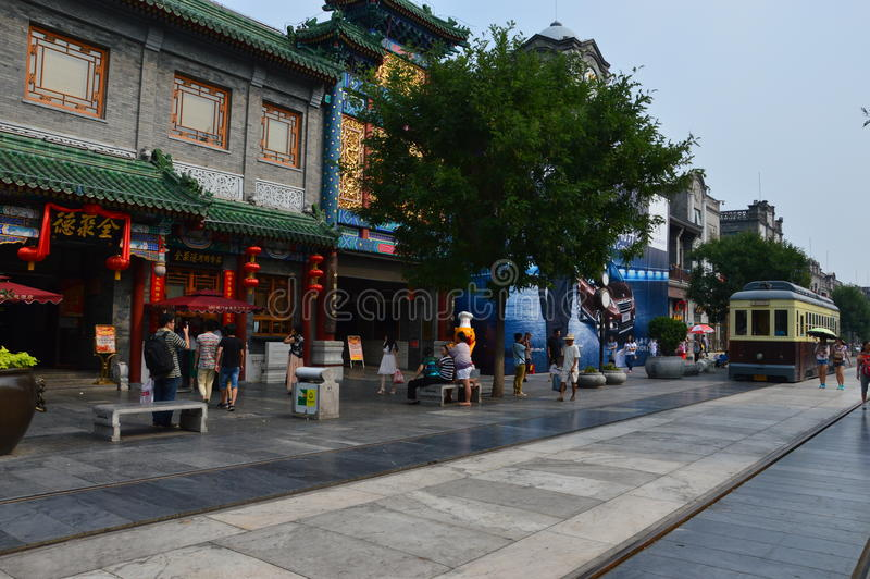 Laufkatze in Qianmen Peking lizenzfreie stockbilder