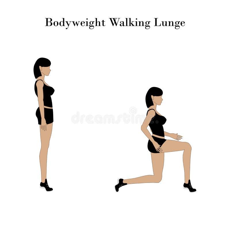 Laufleinen-Übungstraining des Körpergewichts gehendes lizenzfreie abbildung