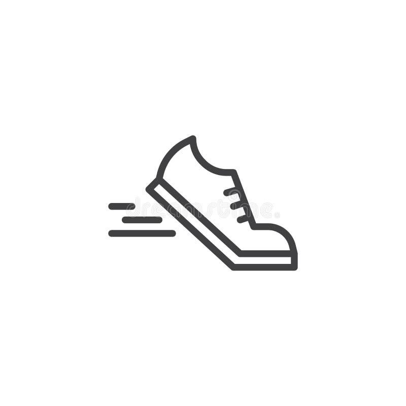 Laufschuhe zeichnen Ikone stock abbildung