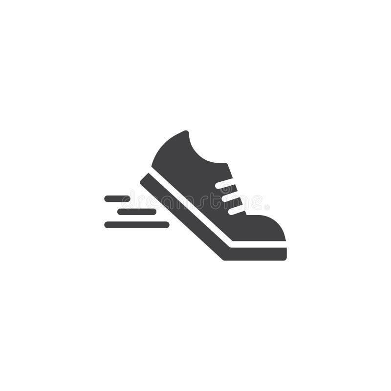 Laufschuhvektorikone lizenzfreie abbildung