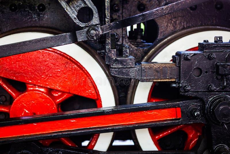 Laufwerk der alten Dampflokomotive lizenzfreies stockfoto