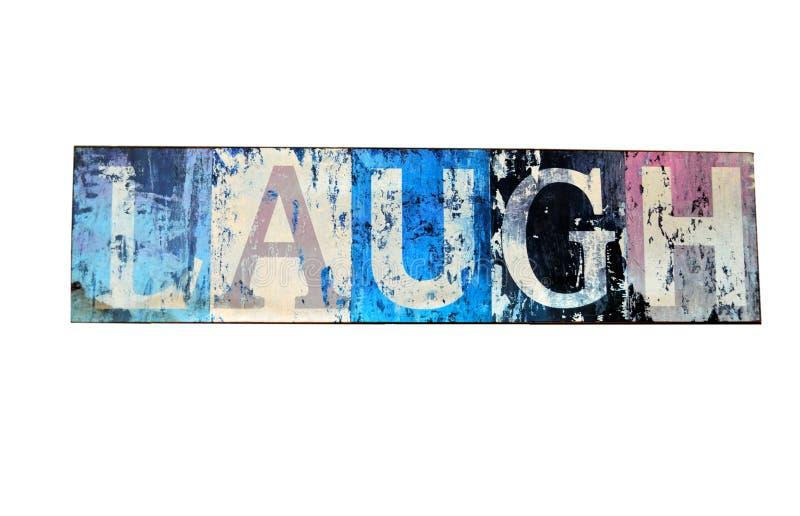 LAUGH. Cartel Laugh in vintage design stock photos