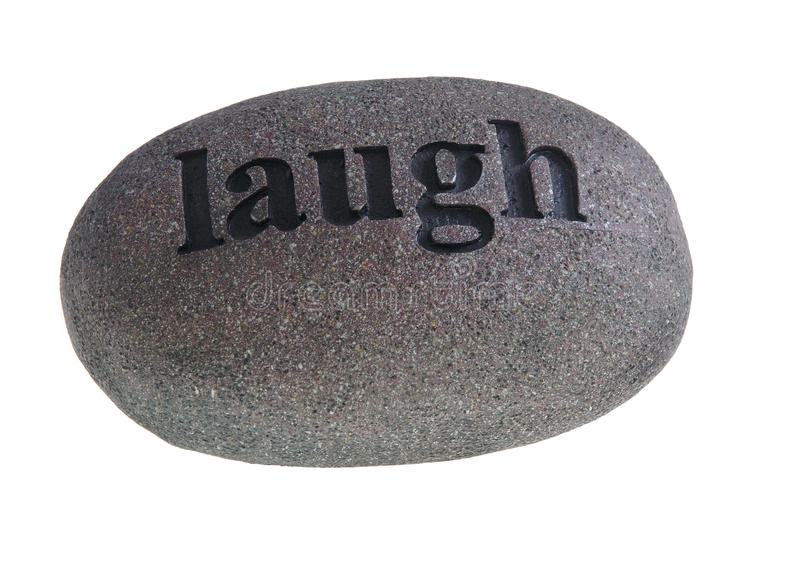 Download Laugh Engraved On Stone Royalty Free Stock Image - Image: 10931736