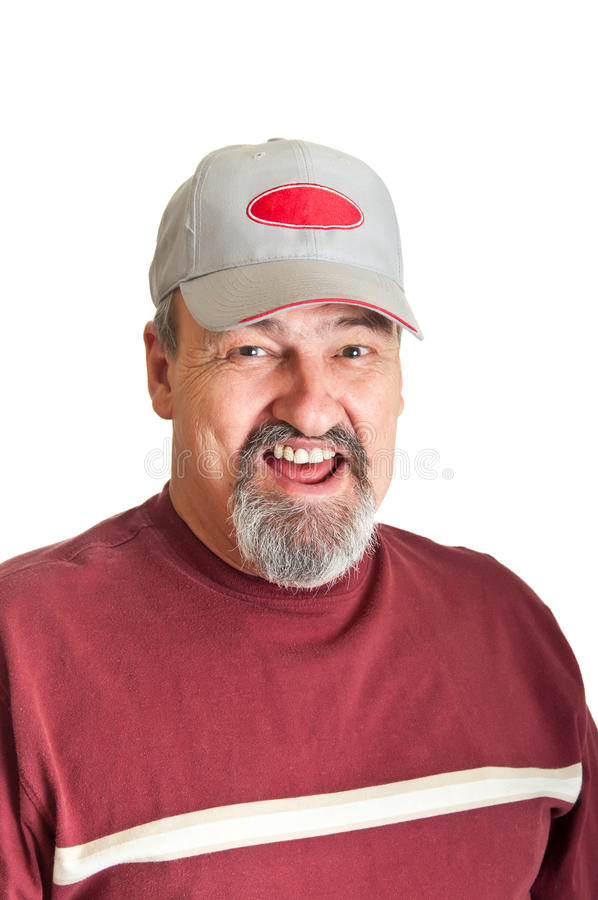 Laughing Adult Male stock photography