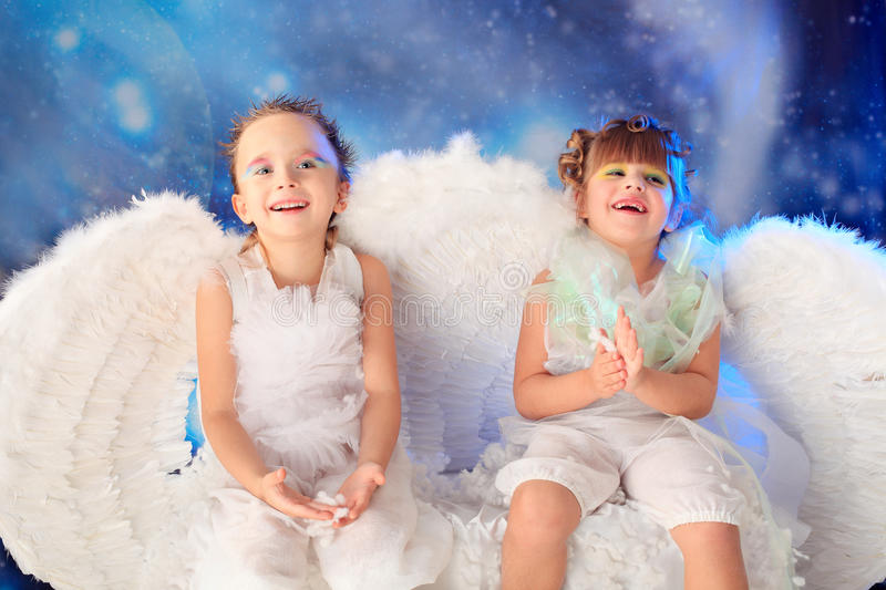 Download Laughing angels stock image. Image of baby, life, cute - 12046797