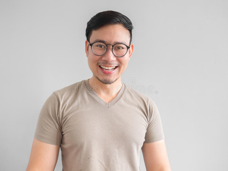 Laughing Asian man. stock image