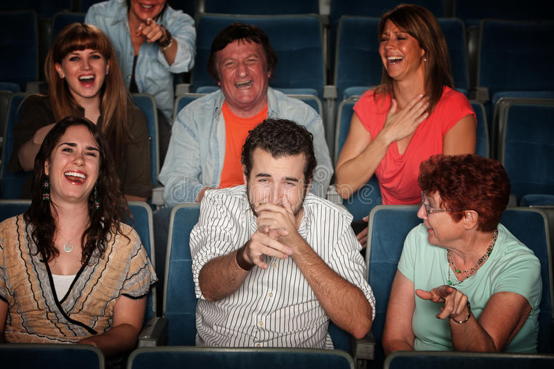 Laughing Audience Stock Photography