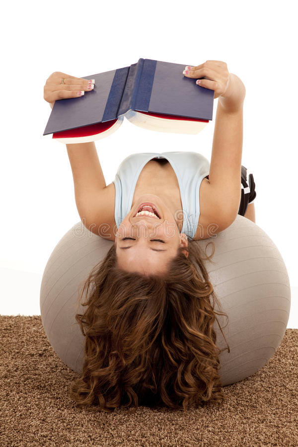 Laughing ball book stock image