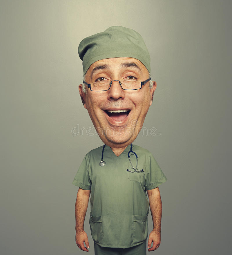 Download Laughing Bighead Doctor In Uniform Royalty Free Stock Image - Image: 35124126