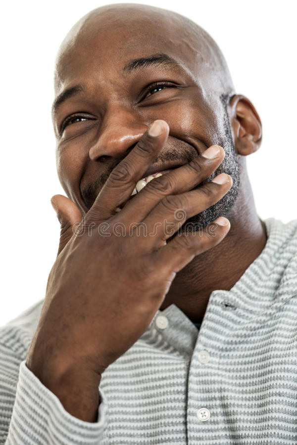 Laughing Black Man Portrait royalty free stock photos