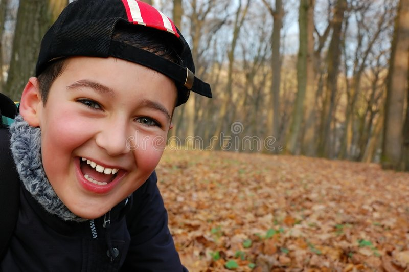 Laughing boy royalty free stock photography