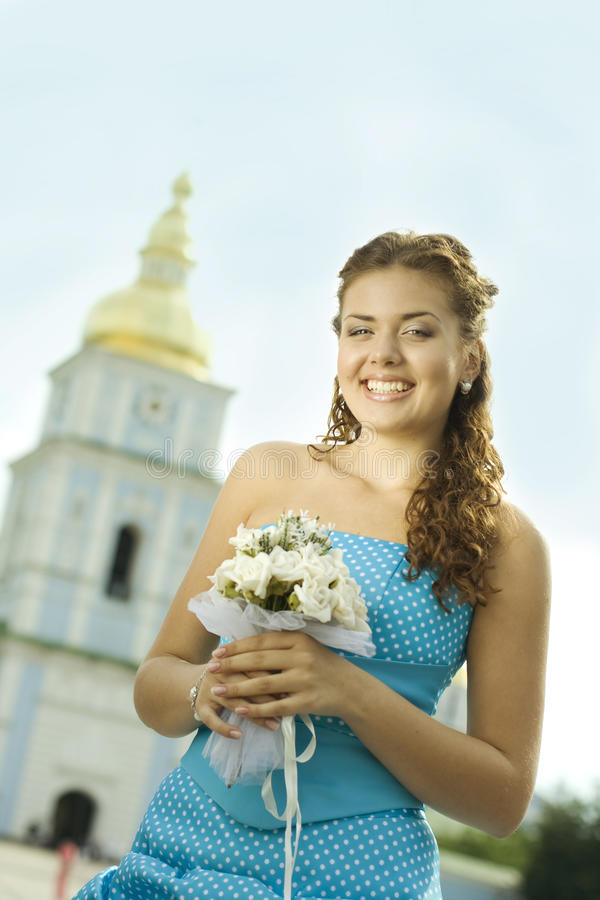 Download Laughing bride stock image. Image of smile, flowers, fine - 10410983