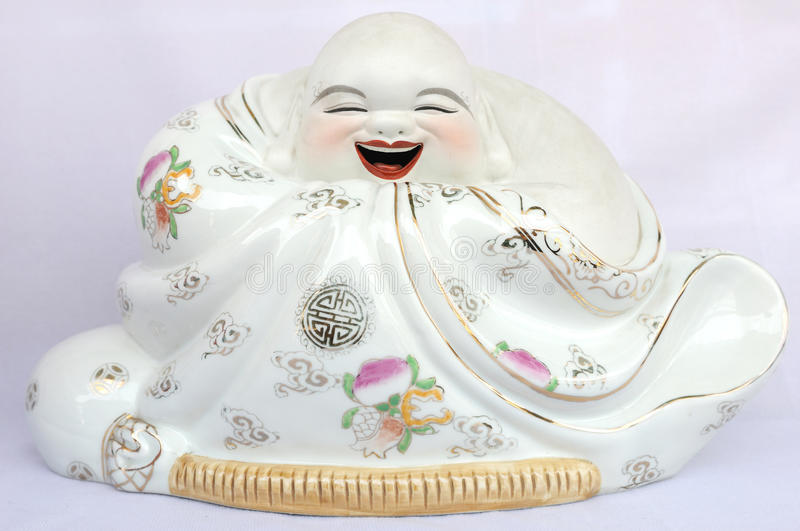 Download Laughing buddha stock image. Image of detail, ceramic - 12783885