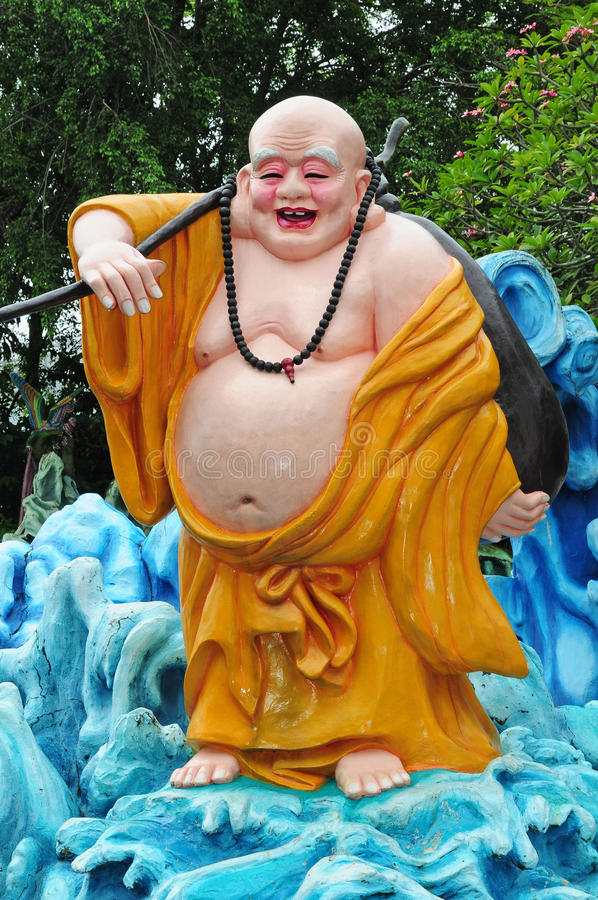 Download Laughing Buddha stock photo. Image of robe, belly, figure - 17776226