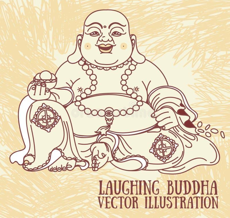 Laughing Buddha royalty free illustration