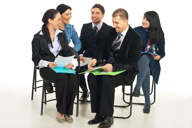Download Laughing Business People At Conference Stock Image - Image: 17999737
