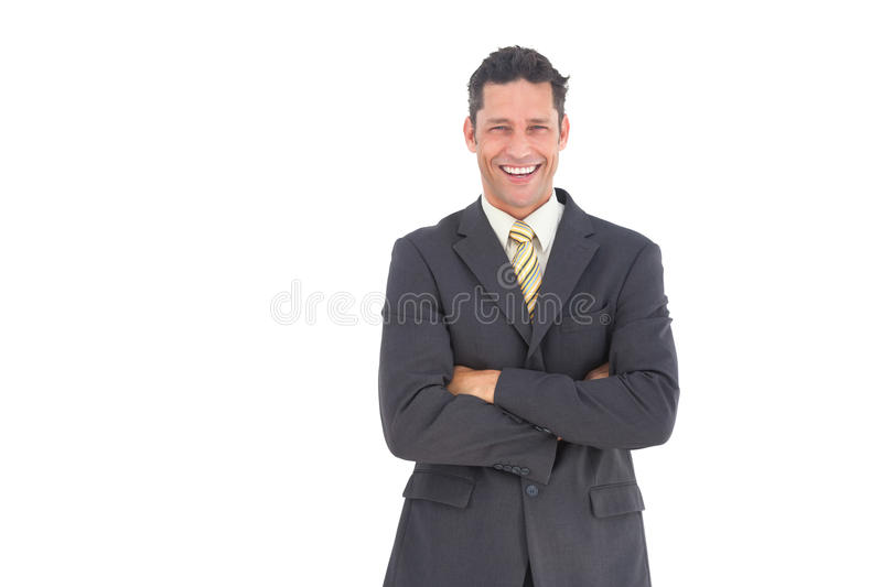 Laughing Businessman With Crossed Arms Royalty Free Stock Image