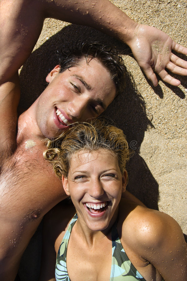 Laughing couple. royalty free stock image