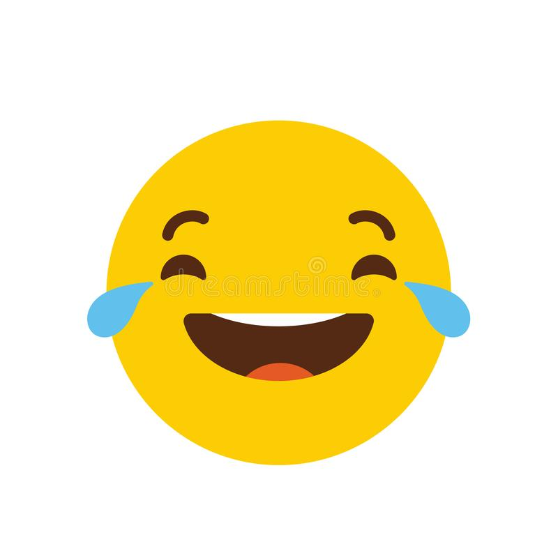 Laughing Emoji icon design vector stock illustration