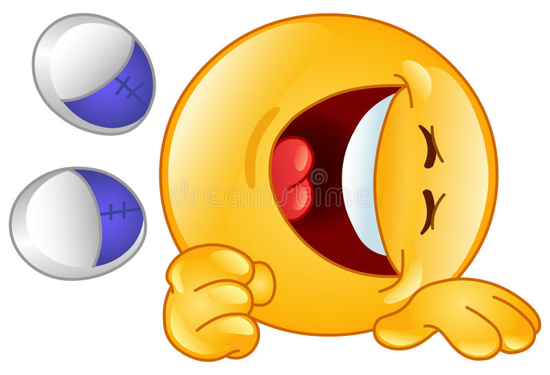 Laughing emoticon vector illustration