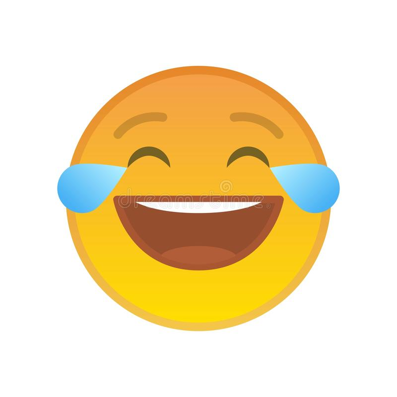 Free Laughing Emoticon With Tears Of Joy Stock Photography - 127118642