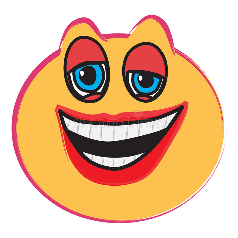 Laughing face royalty free illustration