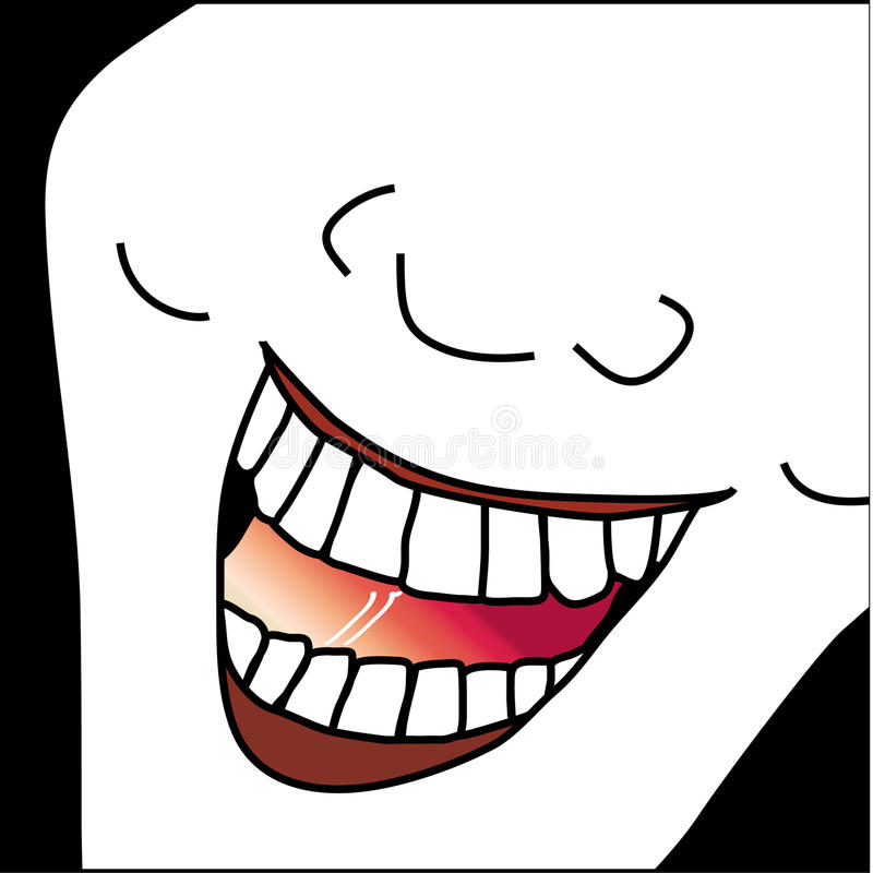 Laughing Face Caricature Illustration