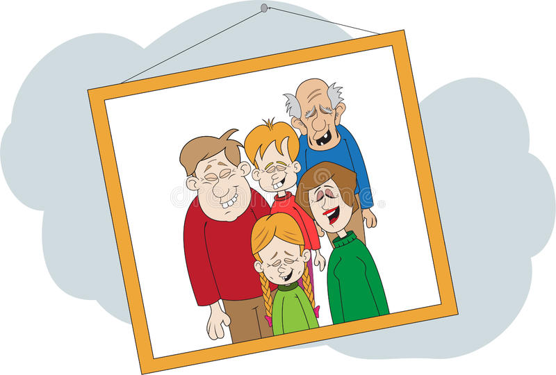 Download Laughing Family Photograph stock vector. Illustration of cartoon - 20980214