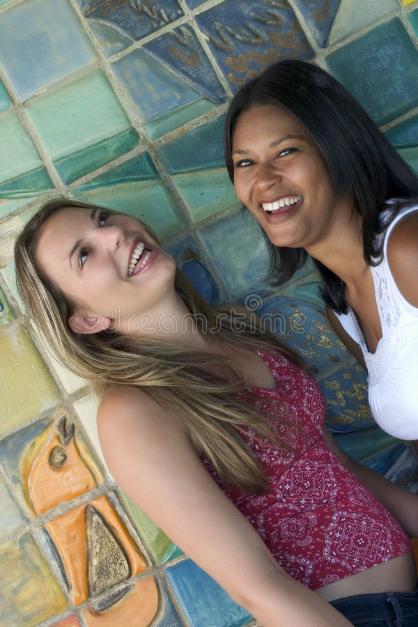 Laughing Friends royalty free stock photography
