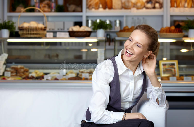 The laughing girl royalty free stock photography