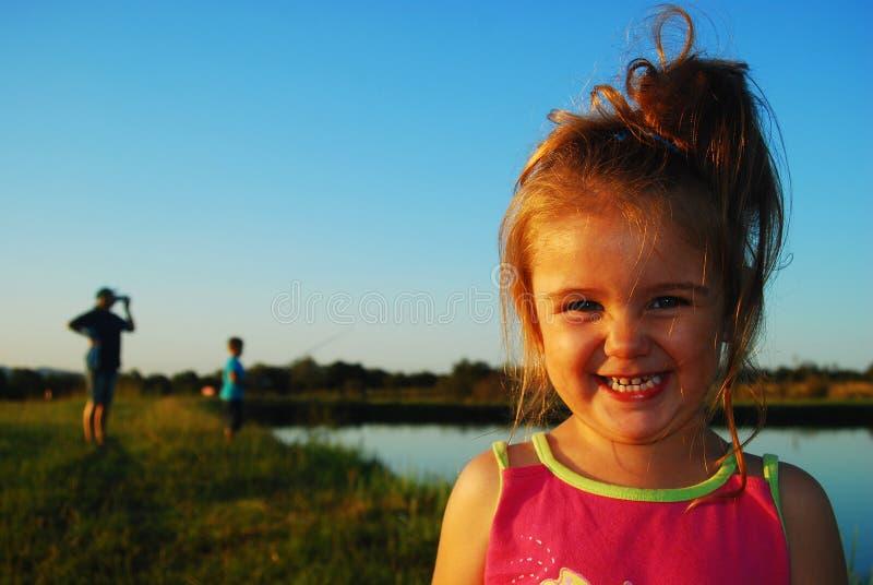 Laughing girl royalty free stock photo