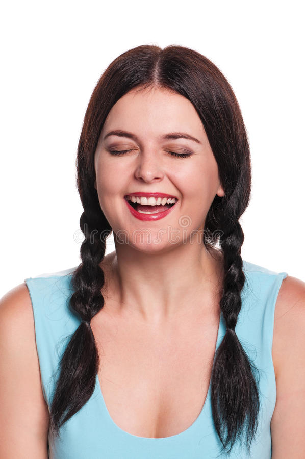 Download Laughing girl stock image. Image of background, european - 26821457