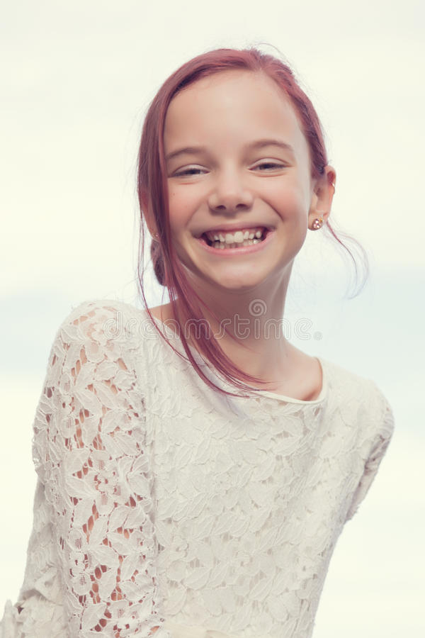 Laughing girl royalty free stock image