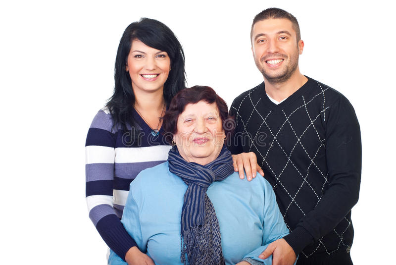 Download Laughing Grandma And Her Grandchildren Stock Photo - Image: 16463986