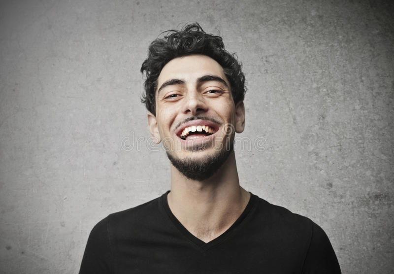 Download Laughing Guy stock photo. Image of joke, happy, beard - 27883914