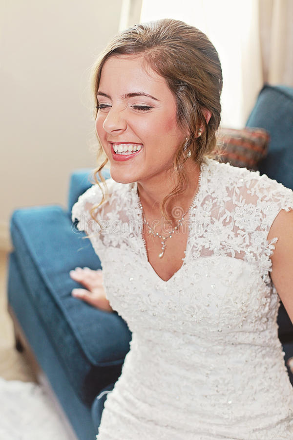 Download Laughing happy bride stock photo. Image of beautiful - 33665360