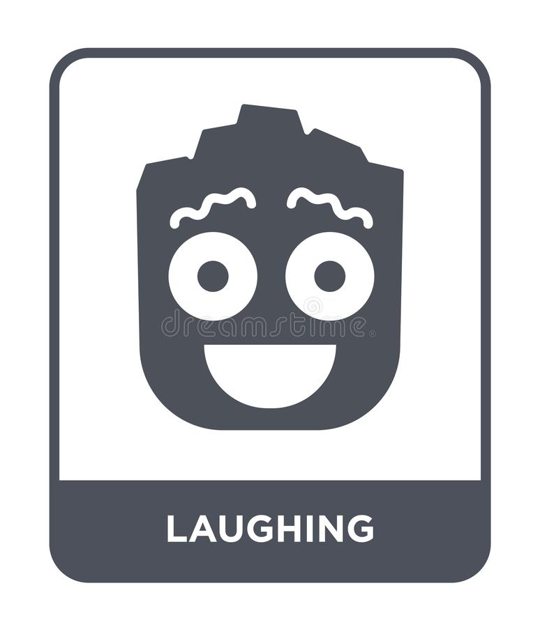 Laughing icon in trendy design style. laughing icon isolated on white background. laughing vector icon simple and modern flat. Symbol for web site, mobile, logo royalty free illustration