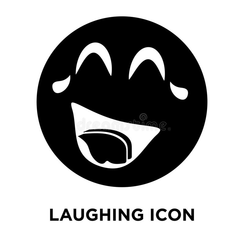 Laughing icon vector isolated on white background, logo concept vector illustration
