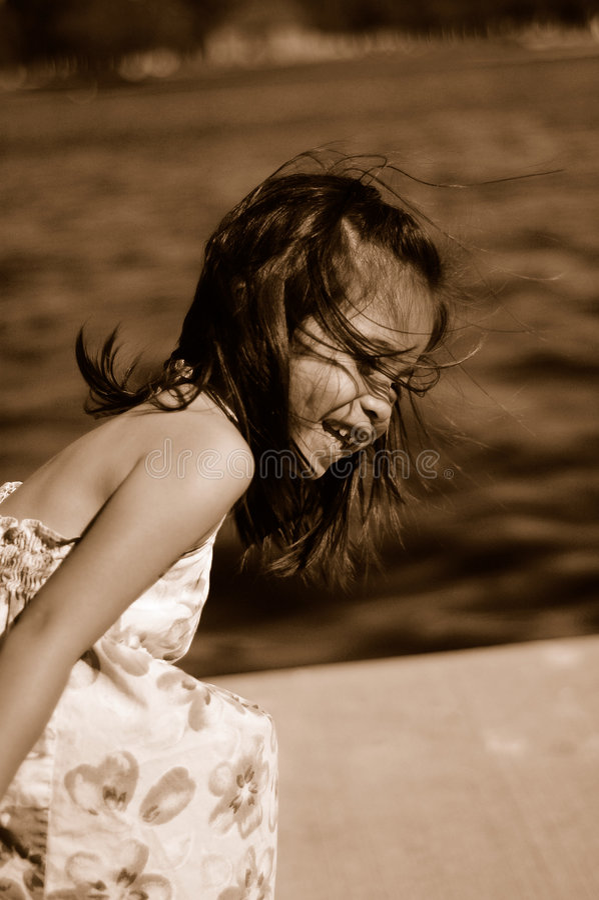 Download Laughing kid 1 stock image. Image of cute, daughter, park - 470861