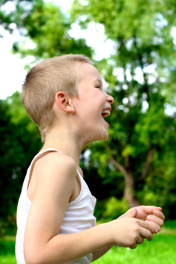 Laughing kid royalty free stock images