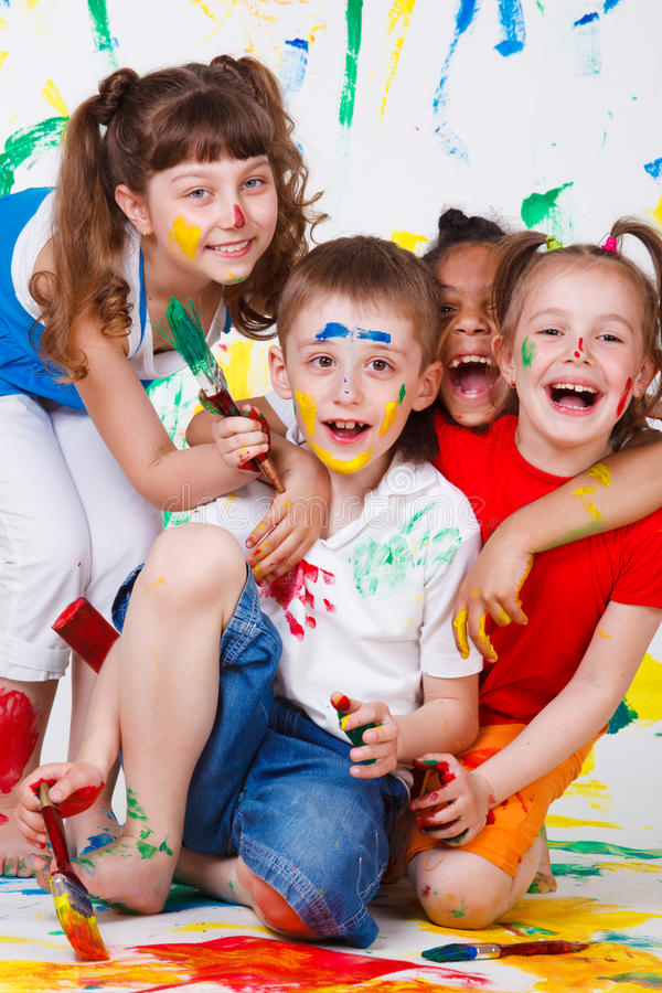 Laughing kids stock images