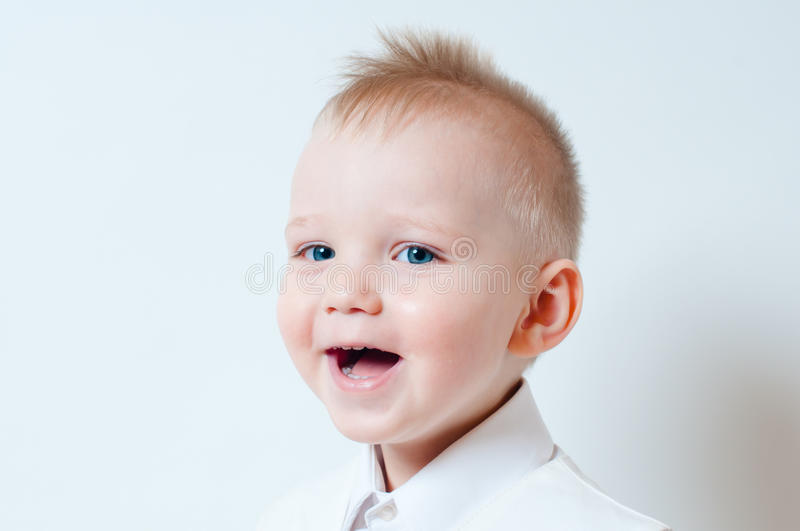 Laughing A Little Boy Stock Photos