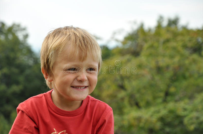Laughing little child stock image