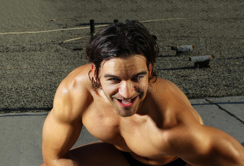 Download Laughing Male Fitness Model Stock Photo - Image: 20196230