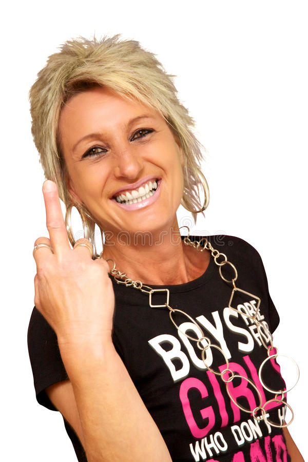 Download Laughing With Middle Finger Stock Photo - Image: 29012910